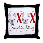 Frenchie Kisses OXOX Throw Pillow