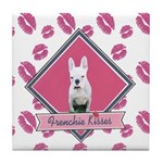 Frenchie Kisses Tile Coaster