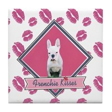 Frenchie Kisses Tile Coaster