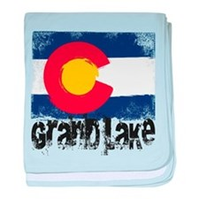 Grand Lake Grunge Flag baby blanket