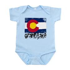Grand Lake Grunge Flag Infant Bodysuit