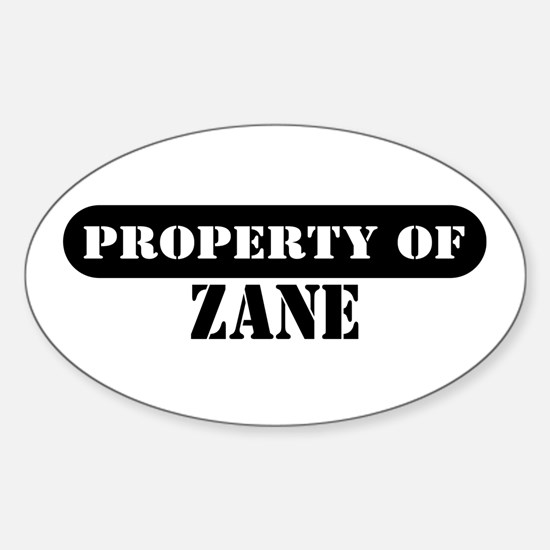 Property of Zane Oval Decal