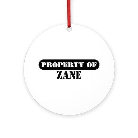 Property of Zane Ornament (Round)