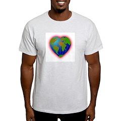 Earth Heart Ash Grey T-Shirt