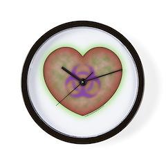 Biohazard Heart Wall Clock