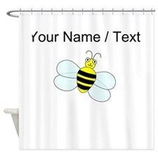 Custom Cartoon Bee Shower Curtain