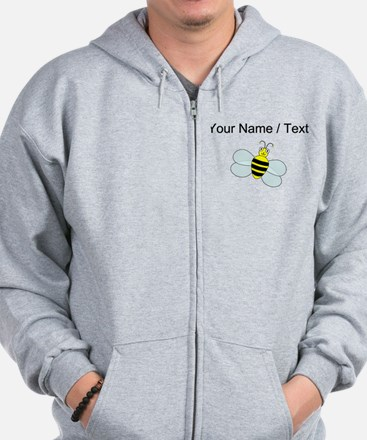 Custom Cartoon Bee Zip Hoody