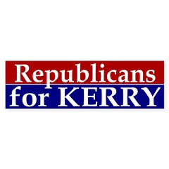 Republicans for Kerry Bumper Bumper Sticker