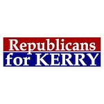 Republicans for Kerry Bumper Sticker