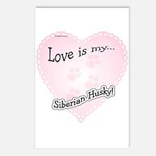 Love is my Siberian Husky Postcards (Package of 8)