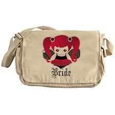 Cute Goth Bride Messenger Bag