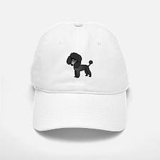 Cute Poodle Black Coat Baseball Baseball Baseball Cap