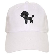 Cute Poodle Black Coat Baseball Baseball Cap