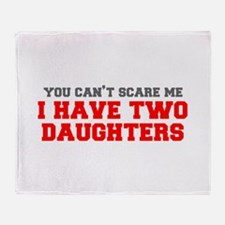 two-daughters-fresh-gray-red-3000 Throw Blanket