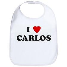 I Love CARLOS Bib