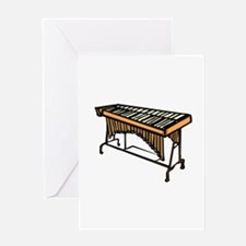 vibraphone simple instrument design Greeting Cards