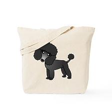 Cute Poodle Black Coat Tote Bag
