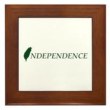 Taiwan Independence Framed Tile