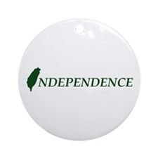 Taiwan Independence Ornament (Round)