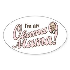 New Obama Mama Oval Decal