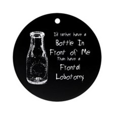 Frontal Lobotomy Ornament (Round)