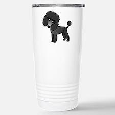 Cute Poodle Black Coat Travel Mug