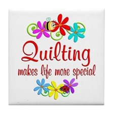 Quilting is Special Tile Coaster