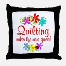Quilting is Special Throw Pillow