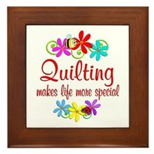 Quilting is Special Framed Tile