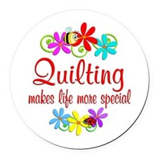 Quilting is Special Round Car Magnet