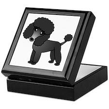 Cute Poodle Black Coat Keepsake Box