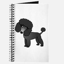 Cute Poodle Black Coat Journal