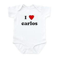 I Love carlos Infant Bodysuit
