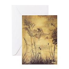Fairy's Tightrope by Arthur Rackham Greeting Card