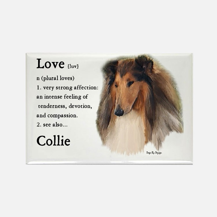 Rough Collie Gifts Rectangle Magnet (10 pack)
