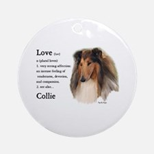 Rough Collie Gifts Ornament (Round)