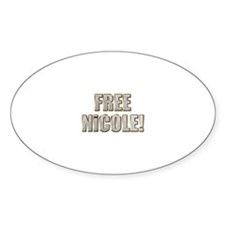 Free Nicole! Oval Decal
