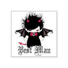 """Cute Goth Groom Square Sticker 3"""" x 3"""""""