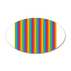 Rainbow Wall 20x12 Oval Wall Decal