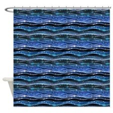 Sparkling Waves Shower Curtain