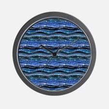 Sparkling Waves Wall Clock