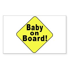 'Baby on board' Rectangle Decal