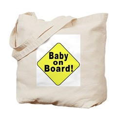 Baby On Board (2-Sided) Tote/Hospital Bag