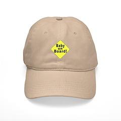 'Baby on board' Baseball Cap