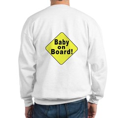 'Baby on board' (OnBack) Sweatshirt