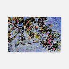 Monet - The Rose Bush Rectangle Magnet