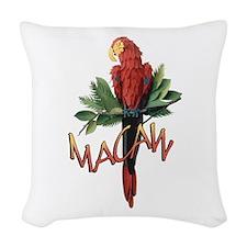 Macaw Woven Throw Pillow