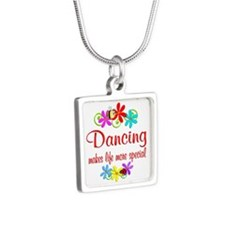 Dancing is Special Silver Square Necklace