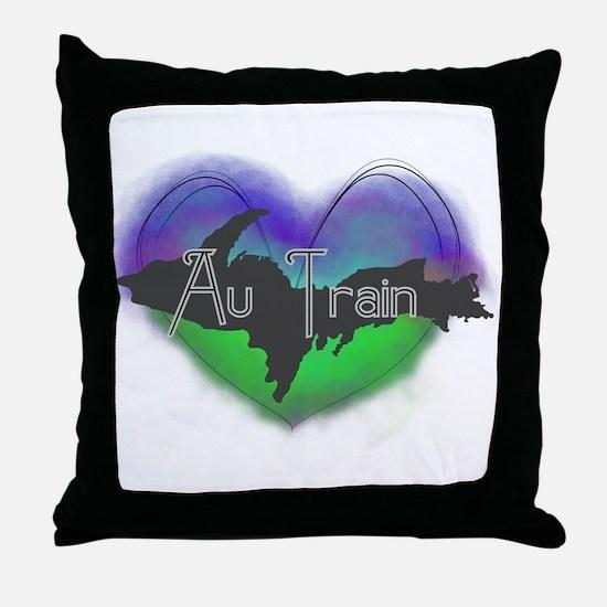 Aurora Au Train Throw Pillow