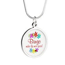 Bingo is Special Silver Round Necklace